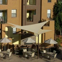 DIY Shade Sail - Equilateral Triangle - 17x17x17 feet