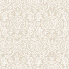 Thibaut Sansome White on Natural F94155 Richmond Collection Multipurpose Fabric