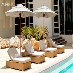 Fiberbuilt 6ft Square Augusta Umbrella With Sunbrella Fabric