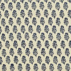 Ralph Lauren Allie Blockprint Porcelain LCF68373F Calicos and Mini Prints Collection Indoor Upholstery Fabric