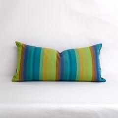 Indoor/Outdoor Sunbrella Astoria Lagoon - 24x12 Vertical Stripes Throw Pillow (quick ship)