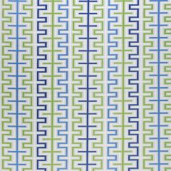 Sunbrella Thibaut Zipper Marine Blue and Kiwi W80334 Calypso Collection Upholstery Fabric