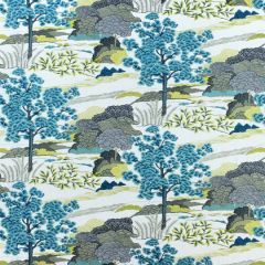 Thibaut Daintree Embroidery Bluemoon W785000 Greenwood Collection Drapery Fabric