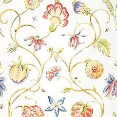 Thibaut Westfield Brights on White F9154 Serendipity Collection Multipurpose Fabric