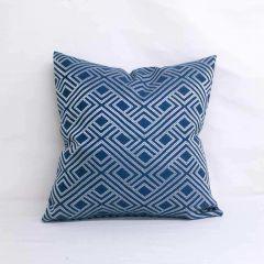 Indoor/Outdoor Sunbrella Integrated Indigo - 20x20 Throw Pillow (quick ship)