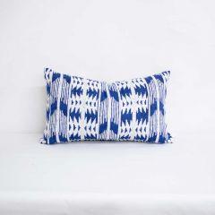 Indoor/Outdoor Silver State Sunbrella Arapaho Moonbeam - 20x12 Vertical Stripes Throw Pillow (quick ship)