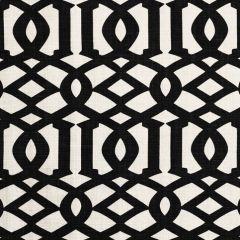 F Schumacher Imperial Trellis II Jet 174414 Print Happy Collection Indoor Upholstery Fabric