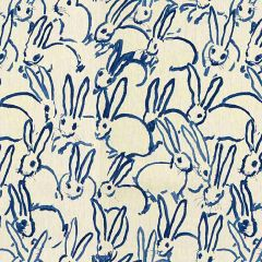 Groundworks Hutch Print Navy GWF-3523-50 by Hunt Slonem Multipurpose Fabric