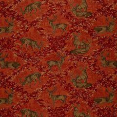 F Schumacher Woburn Meadow Red 169073 Indoor Upholstery Fabric