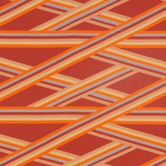 Robert Allen Sunbrella Contract Banderoles Watermelon 2302-7 Dwell Studio Modern Couture Collection Upholstery Fabric