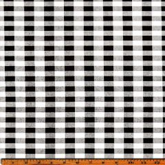 Premier Prints Plaid Black Premier Basics Collection Multipurpose Fabric