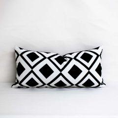 Indoor/Outdoor Sunbrella Savvy Onyx - 24x12 Throw Pillow (quick ship)
