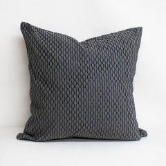 Indoor/Outdoor Sunbrella Dimple Smoke - 22x22 Throw Pillow (quick ship)