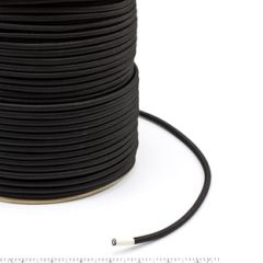 Patio Lane Polypropylene Covered Elastic Cord #M-4 1/4 inches x 500 feet Black