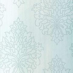 F-Schumacher Beaded Damask-Sky 5005661 Luxury Decor Wallpaper