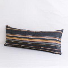 Indoor/Outdoor Sunbrella Stanton Greystone - 30x12 Horizontal Stripes Throw Pillow (quick ship)