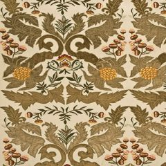Mulberry Home Constantine Linen Sage / Gold FD689-S118 Drapery Fabric