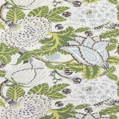 Thibaut Mitford Green and White F92949 Paramount Collection Multipurpose Fabric