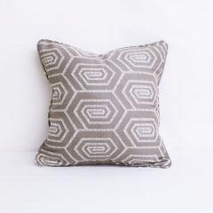Indoor/Outdoor Sunbrella Daze Oat - 18x18 Throw Pillow with Welt (quick ship)