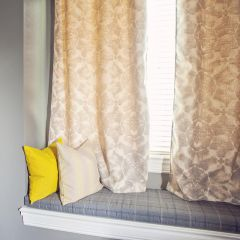 Custom Curtain With PATTERNED Sunbrella Fabric Options and Grommets