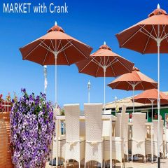 Fiberbuilt 7.5ft Octagon Market Umbrella With Sunbrella Fabric