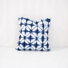 Indoor/Outdoor Sunbrella Midori Indigo - 18x18 Throw Pillow (quick ship)