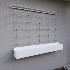 DIY Green Wall Cable Trellis Kit - Plant Box System - 4 Ft., 5 Ft., 6 Ft. Available