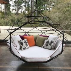 The Hanging Lounger by Kodama Zome Outdoor Swing Bed / Lounge