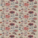 GP and J Baker Bakers Indienne Embroidery Indigo / Red BF10784-1 Keswick Embroideries Collection Drapery Fabric