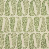 Lee Jofa Lanare Paisley Ecru / Leaf 2018149-130 by Suzanne Rheinstein Indoor Upholstery Fabric