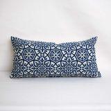 Indoor/Outdoor Outdura Avalon Sapphire - 24x12 Throw Pillow (quick ship)