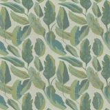Fabricut Maldives Leaves Peacock 94721-01 Jungalow Collection by Justina Blakeney Indoor / Outdoor Upholstery Fabric