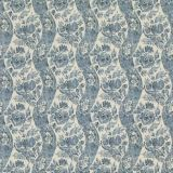GP and J Baker Caldbeck Indigo / Ivory BP10776-1 Signature Prints Collection Multipurpose Fabric