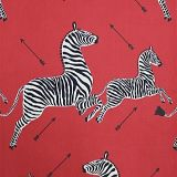 Scalamandre Zebras - Outdoor Masai Red 1 Zebras Collection Upholstery Fabric
