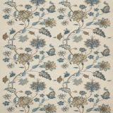 GP and J Baker Bakers Indienne Embroidery Soft Blue BF10784-3 Keswick Embroideries Collection Drapery Fabric