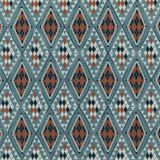 Baker Lifestyle Castelo Indigo / Spice PF50443-3 Homes and Gardens III Collection Drapery Fabric
