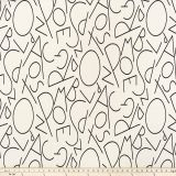 Premier Prints ABC Black Macon Explore and Discover Collection Multipurpose Fabric