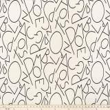 Premier Prints ABC Black Macon Explore and Discover Collection Multipurpose Fabric
