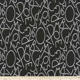 Premier Prints ABC Black White Multipurpose Fabric