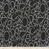 Premier Prints ABC Black White Multipurpose Fabric