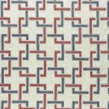 Clarke and Clarke Sekai Indigo / Red F0960-03 Drapery Fabric