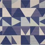 Outdura Geo Nautical 8804 The Ovation 3 Collection - Lofty Blue Upholstery Fabric