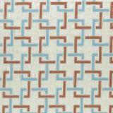 Clarke and Clarke Sekai Cinnabar / Aqua F0960-02 Drapery Fabric