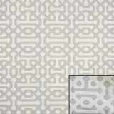 Sunbrella Fretwork Pewter 45991-0002 Elements Collection - Reversible Upholstery Fabric (Light Side)