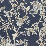 Ralph Lauren Marlowe Floral Prussian Blue LWP30570W Century Club Textures Collection Wall Covering