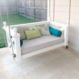 Custom Outdoor Glider / Porch Swing Cushions