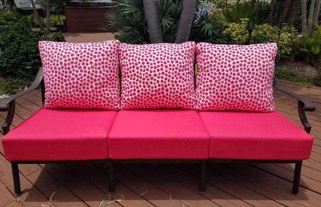 hot pink patio cushions